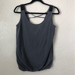 COTTON ON | Gray tank top with sequence detail